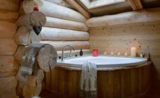 Обустройство ванной комнаты в деревянном доме