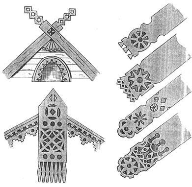 Дополнительные резные фасадные элементы
