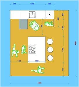 Необходимые размеры для планировки кухни