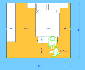 Минимальные размеры спальной комнаты