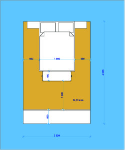 Габаритные размеры спальной комнаты