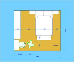 Планировочное решение спальной с туалетным столиком