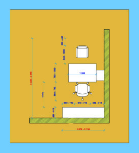 Планировка мебели в личном кабинете