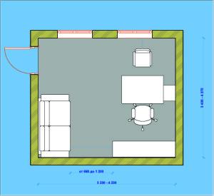 Расстановка мебели в личном кабинете