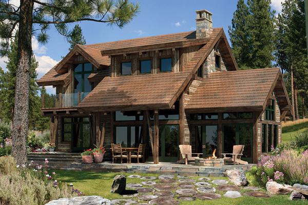 Панорамное остекление деревянного дома