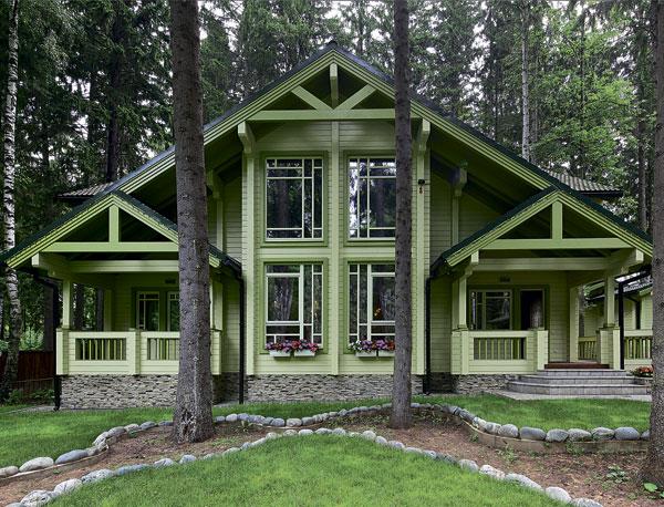 Гармоничное сочетание дома с окружающей средой