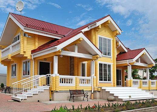 Яркое решение для красной крыши
