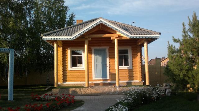 Дом из бревна для отдыха